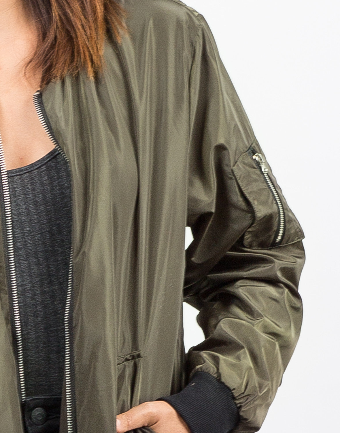 Detail of Lightweight Bomber Jacket
