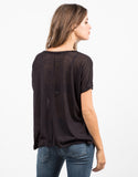 Back View of Lightweight Boxy Tee
