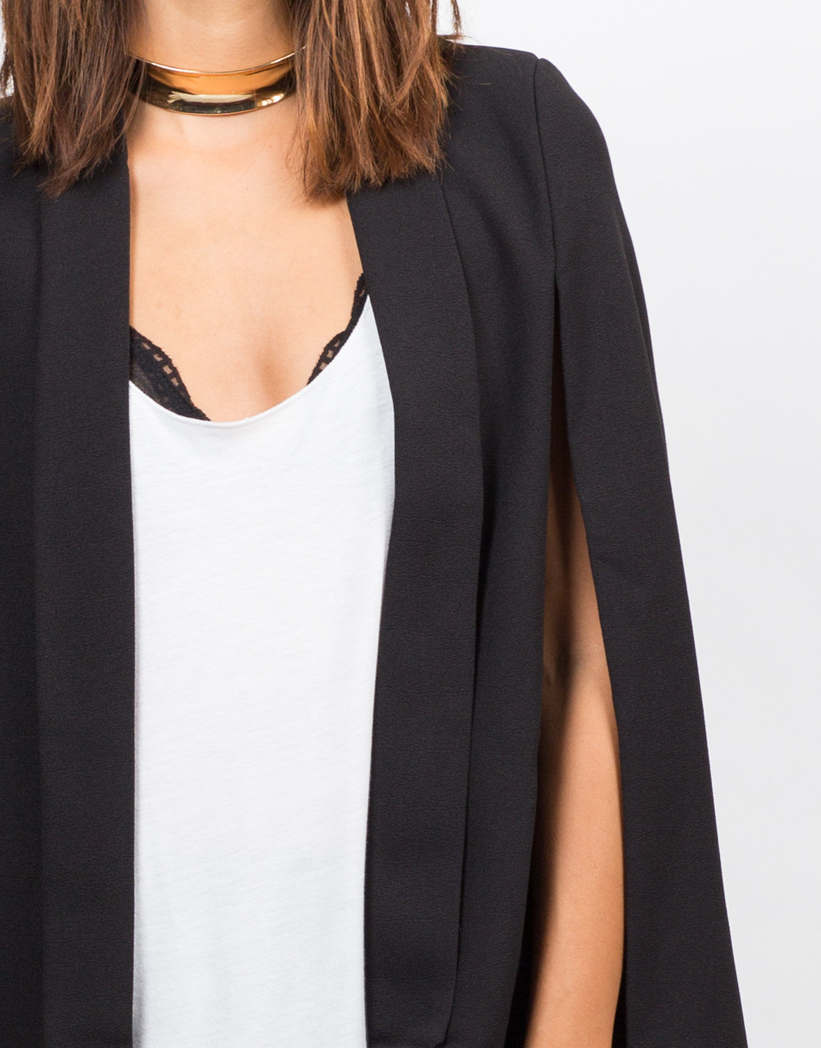 Detail of Lightweight Cape Blazer