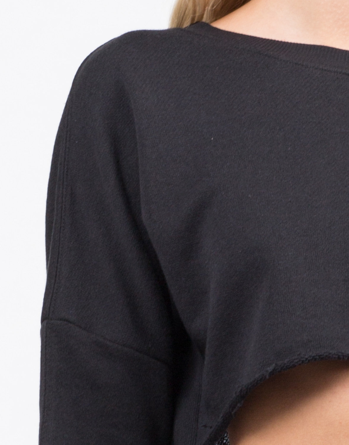 Detail of Lightweight Crop Sweater