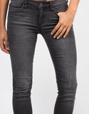 Detail of Lightweight Faded Wash Skinny Jeans