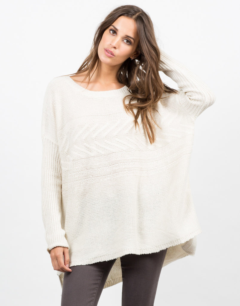 Lightweight Oversized Knit Sweater - 2020AVE