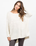 Front View of Lightweight Oversized Knit Sweater