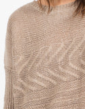 Detail of Lightweight Oversized Knit Sweater