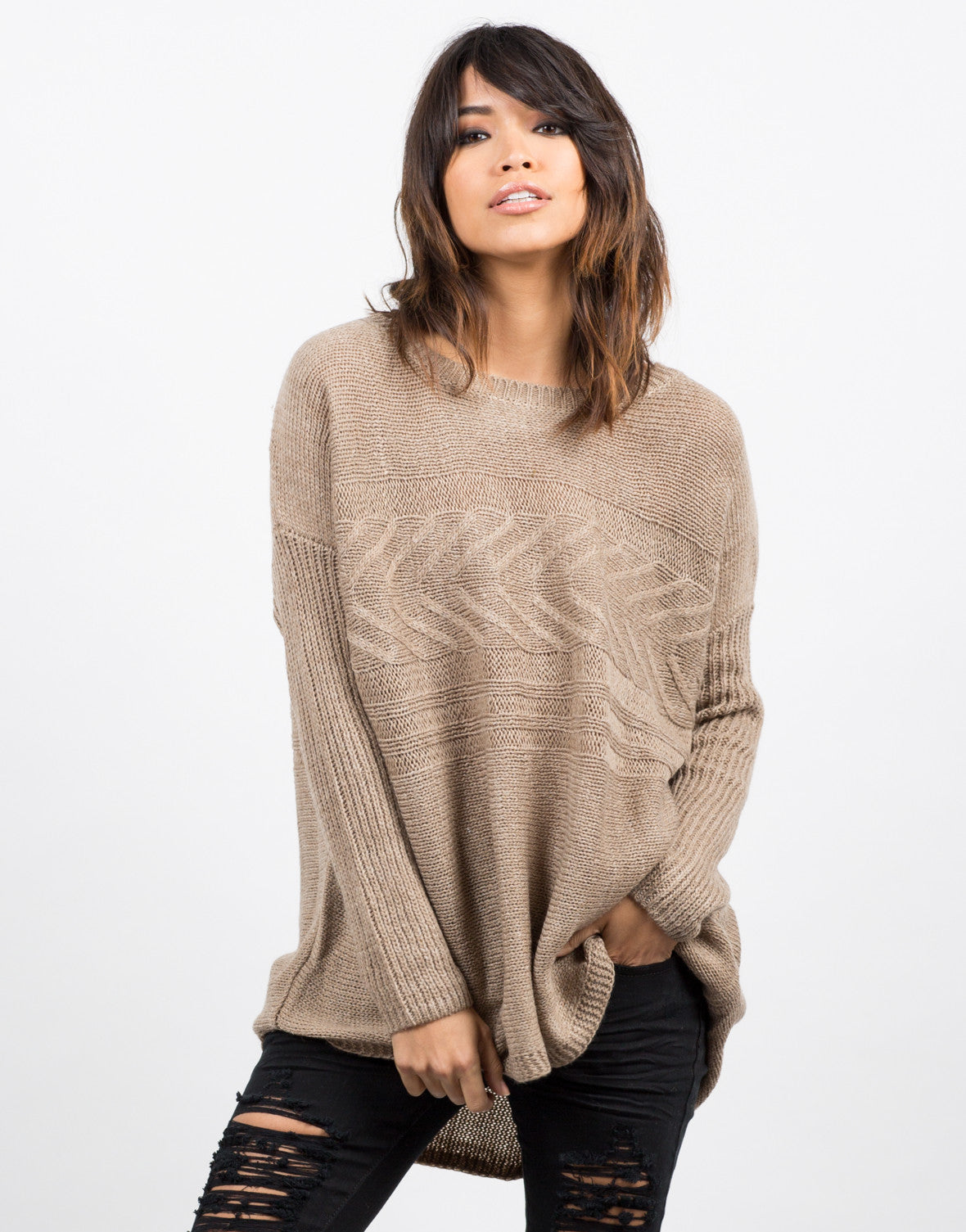 Lightweight Oversized Knit Sweater