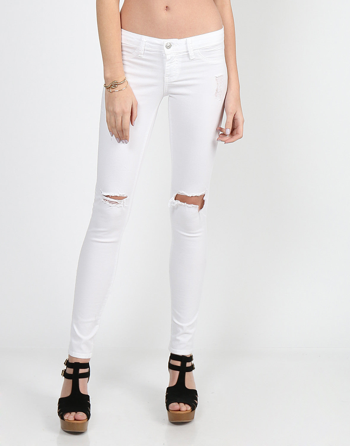 Lightweight Ripped Skinny Jeans