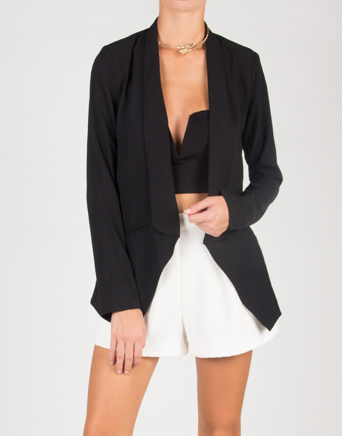Lightweight Semi Sheer Blazer