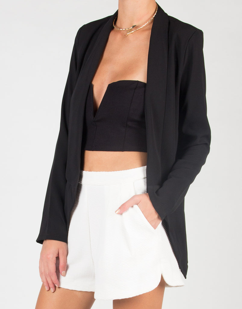 Lightweight Semi Sheer Blazer - 2020AVE