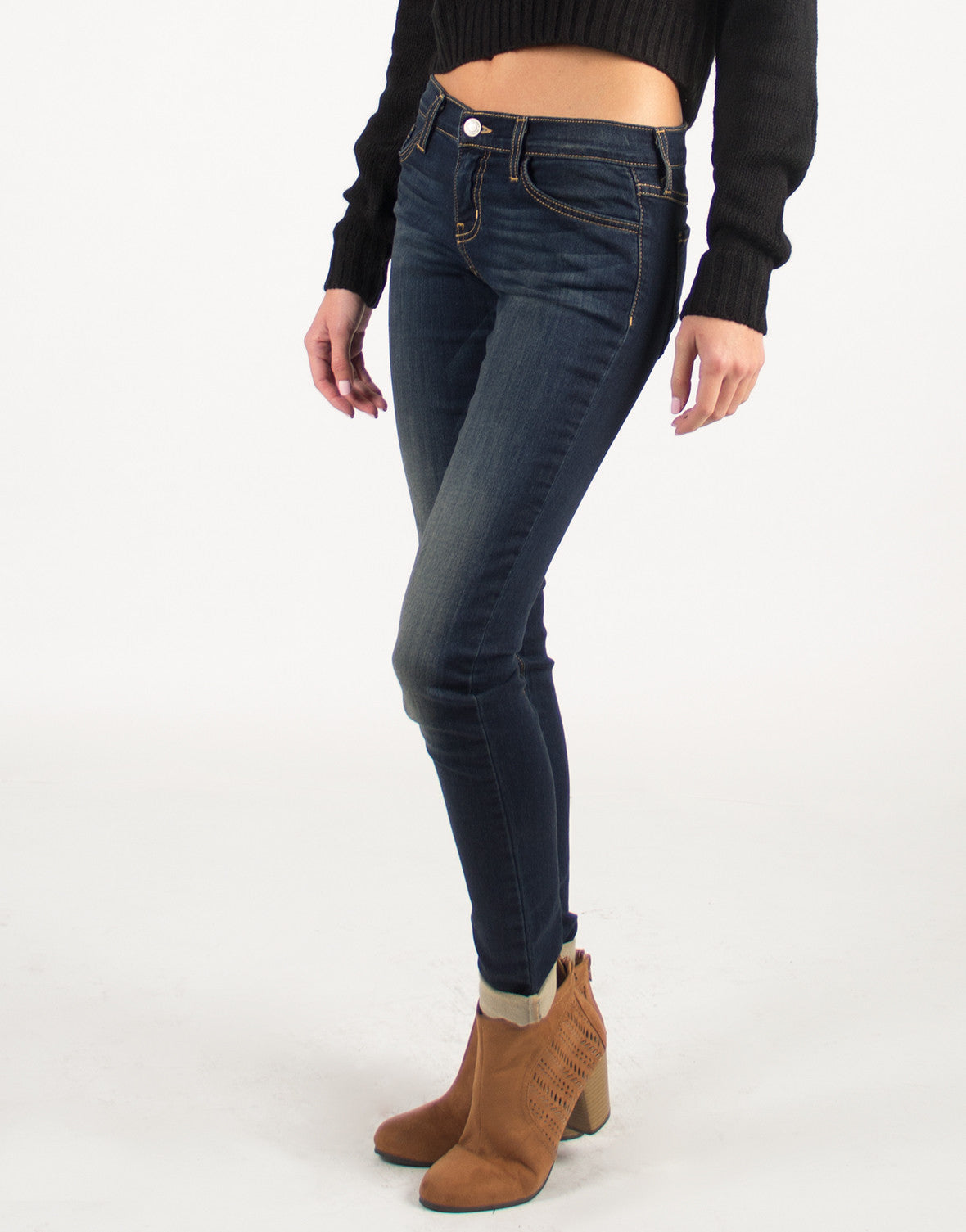 Lightweight Skinny Faded Jeans - 2020AVE