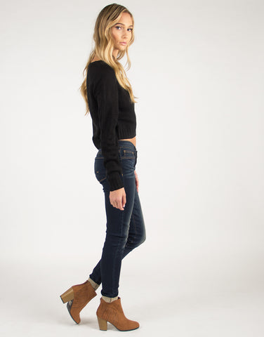 Lightweight Skinny Faded Jeans