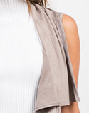 Detail of Lightweight Suede Sleeveless Jacket