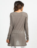 Back View of Lightweight Sweater Top