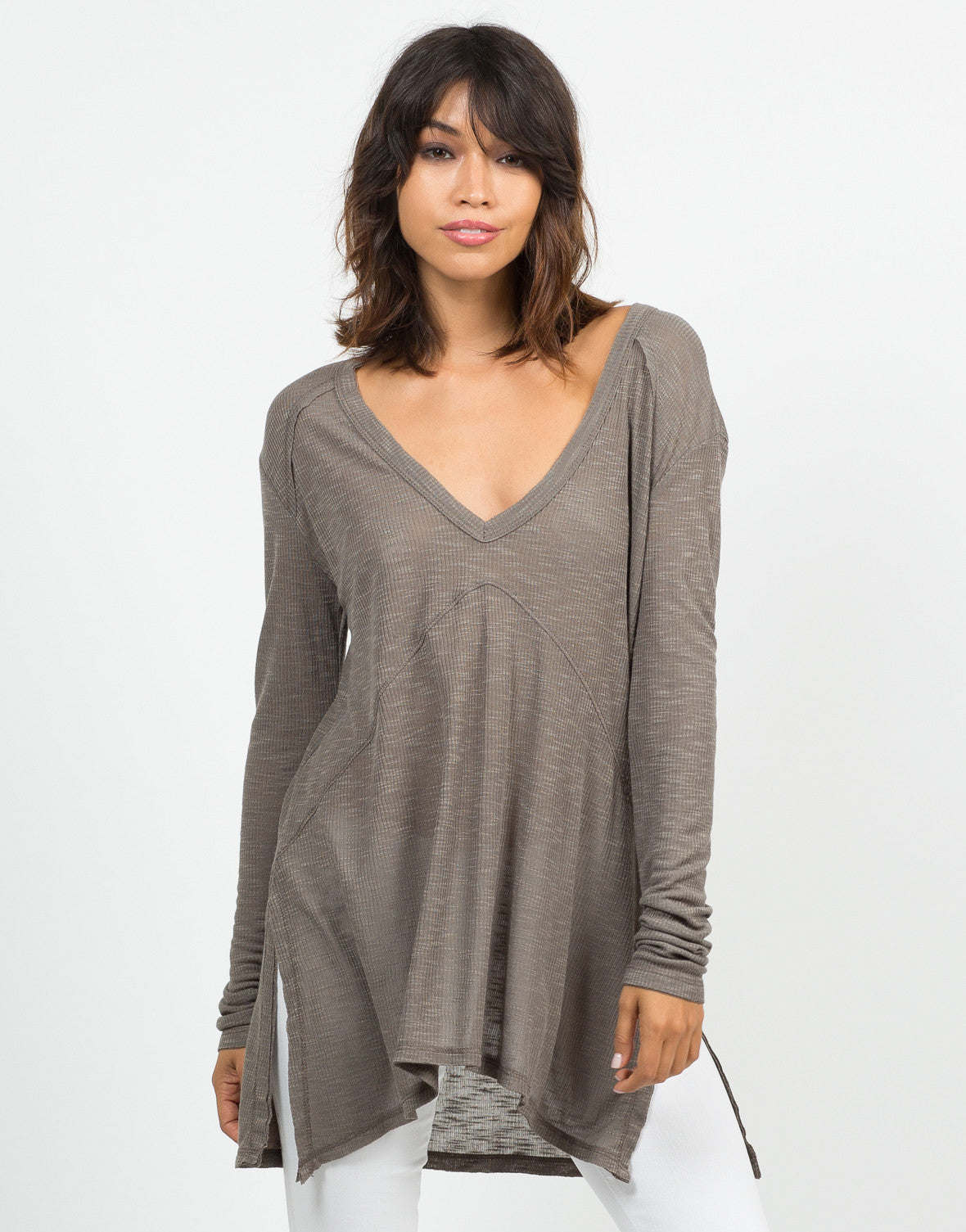 Front View of Lightweight Sweater Top