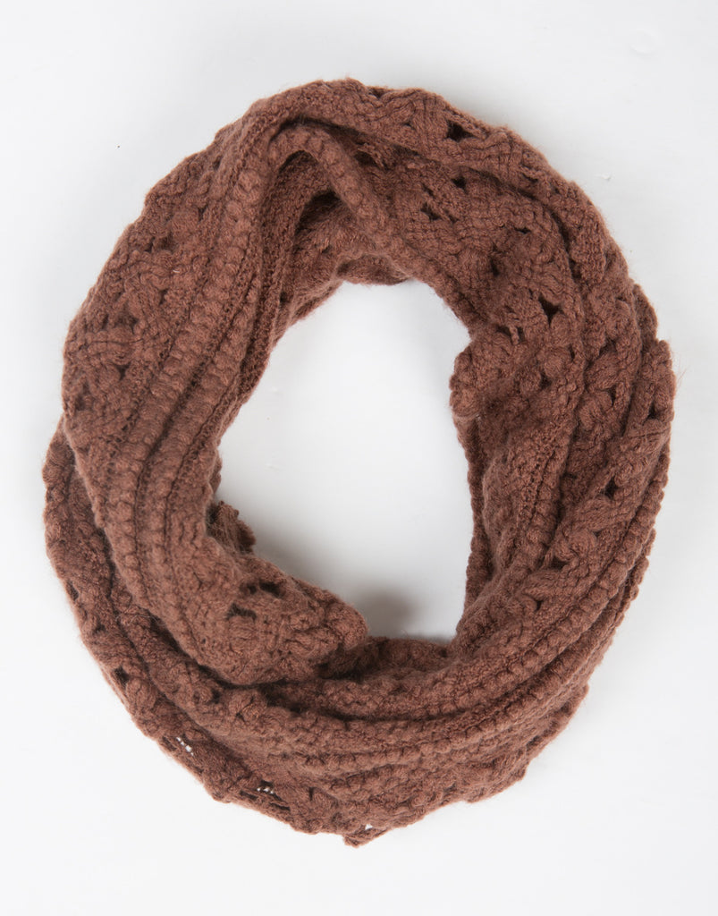 Lightweight Tube Triangle Knit Scarf - Dark Mauve - 2020AVE