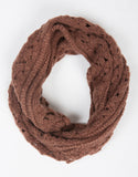 Lightweight Tube Triangle Knit Scarf - Dark Mauve