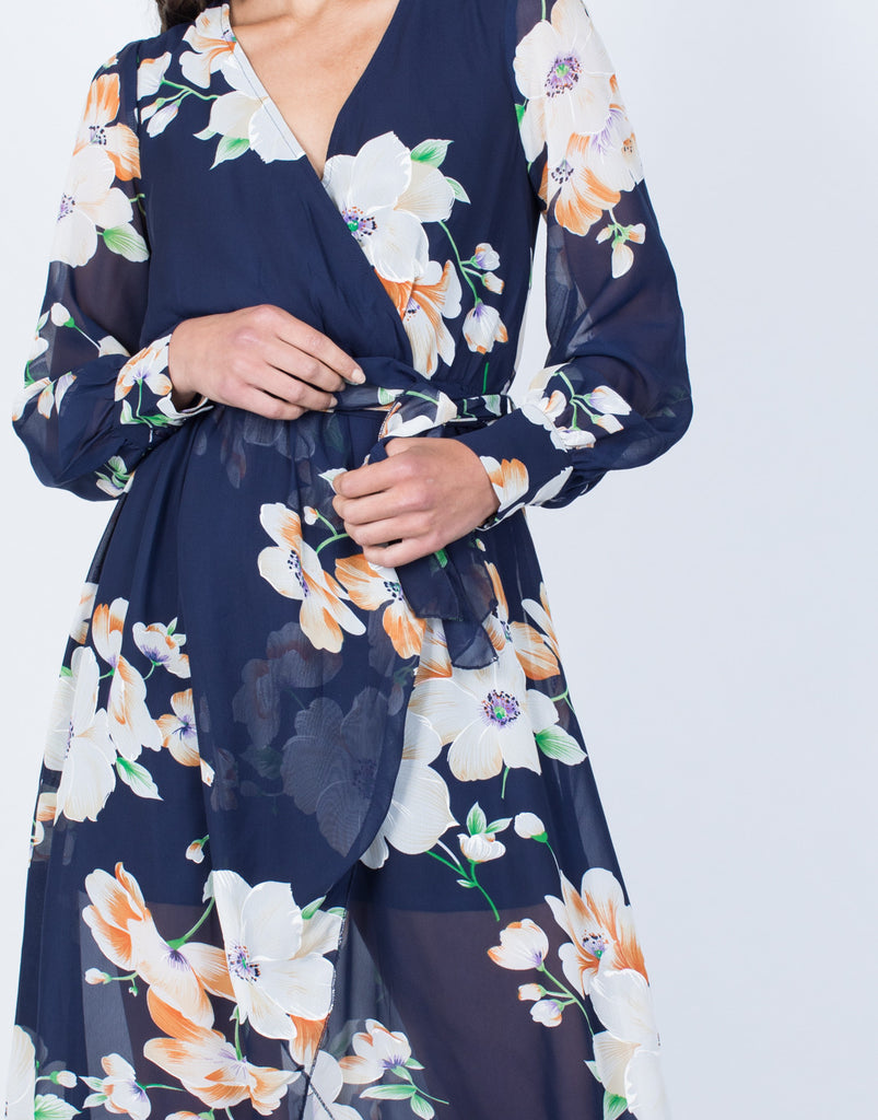 Detail of Lily Wrap Dress