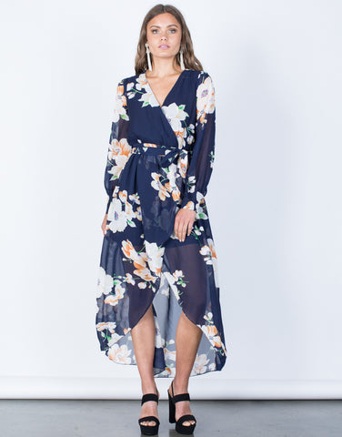 Front View of Lily Wrap Dress
