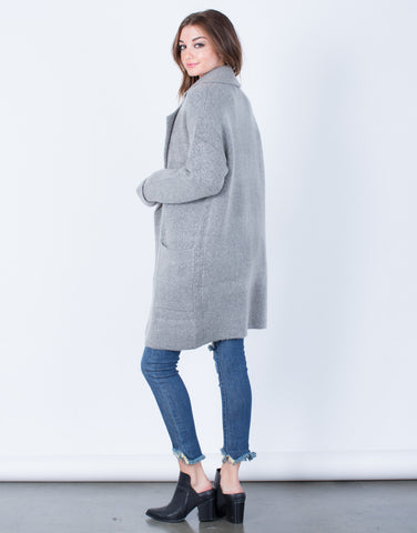 Back View of Limitless Wool Coat
