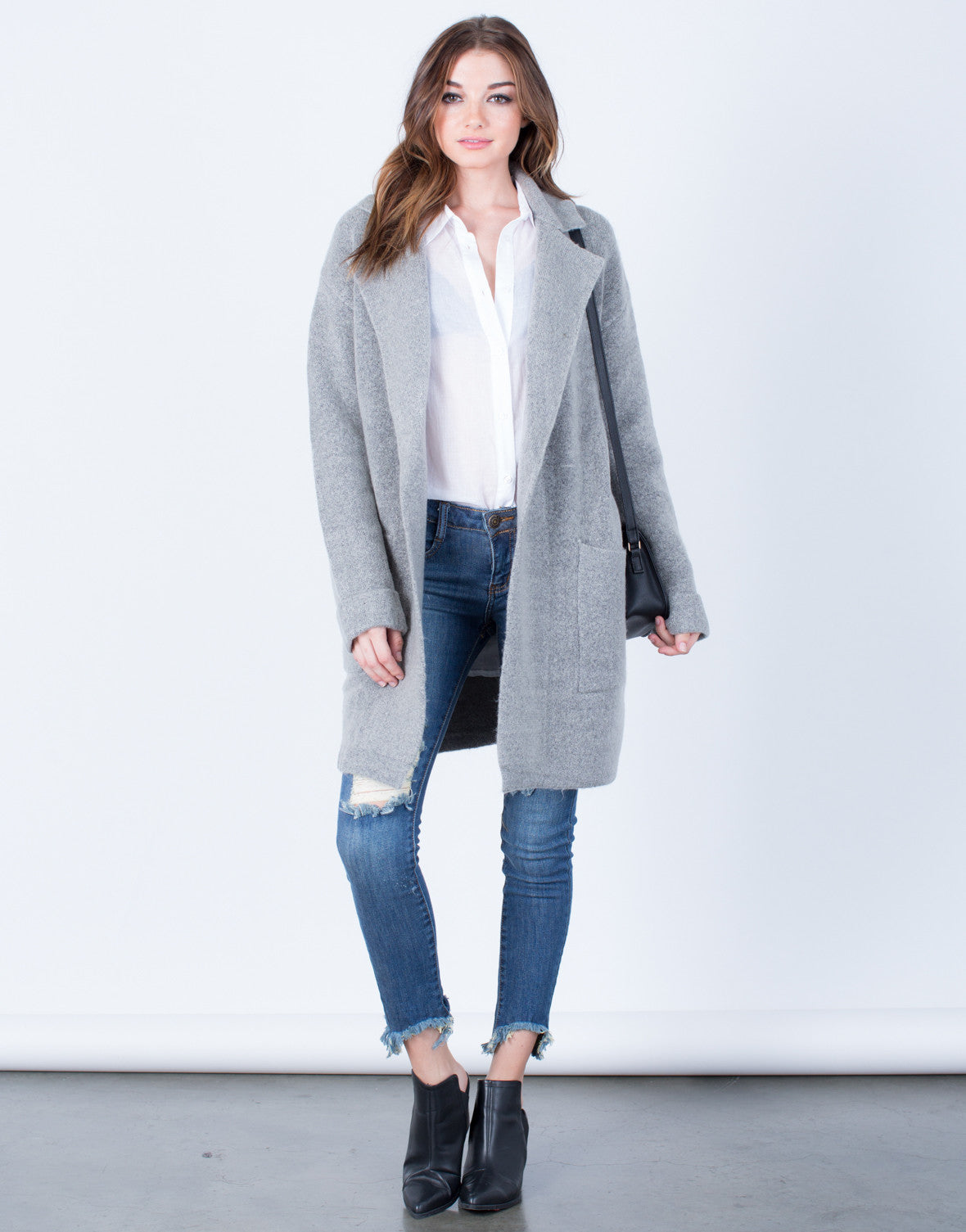 Front View of Limitless Wool Coat