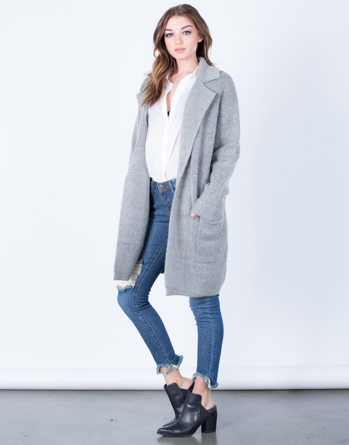 Side View of Limitless Wool Coat