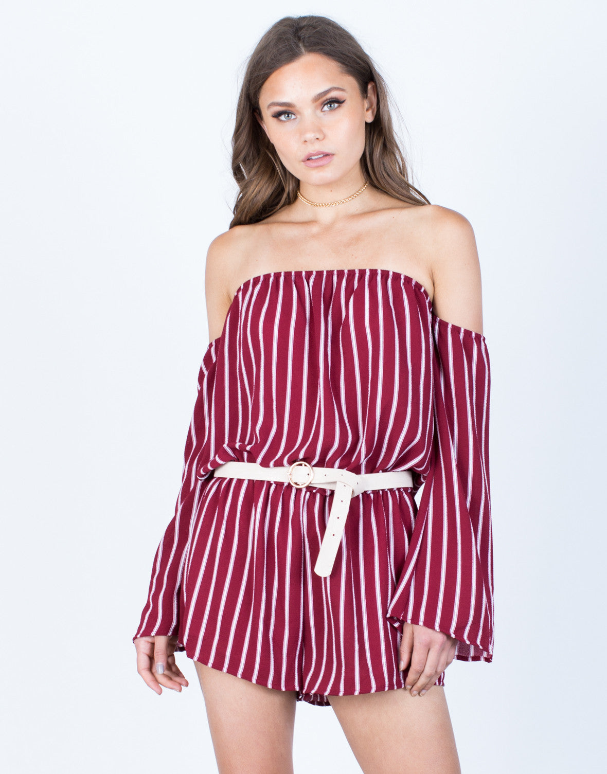Lined Up Romper - 2020AVE