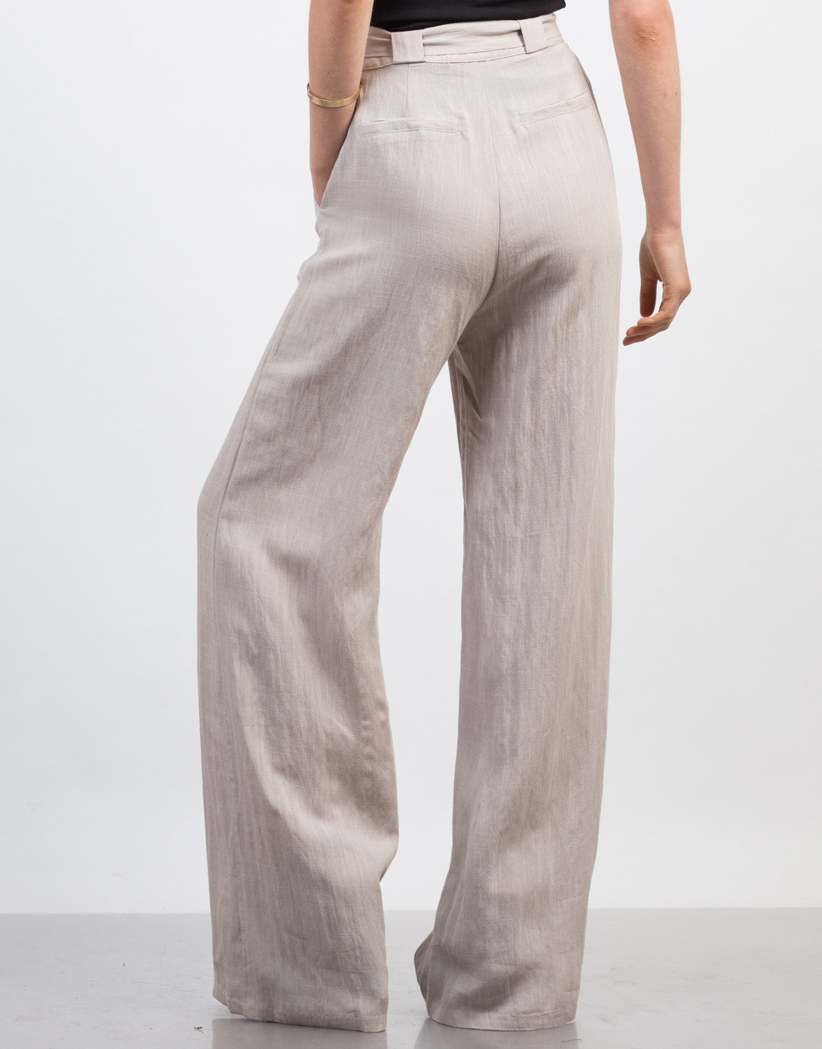 Back View of Linen Palazzo Pants