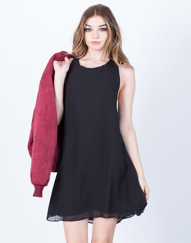 Little Black Chiffon Dress