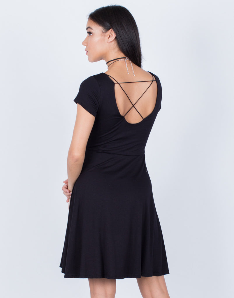 Back View of Little Flowy Knit Dress