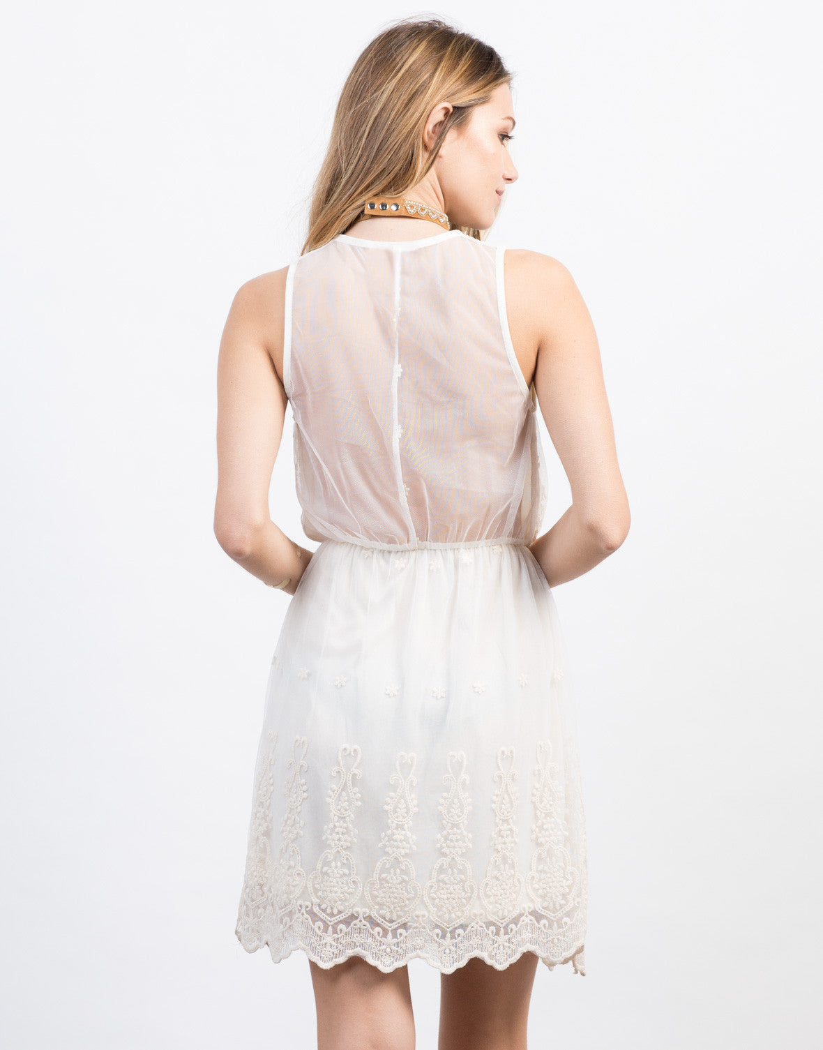 Back View of Little Lacey Dress