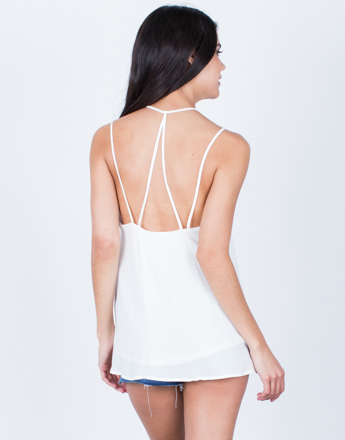 Back View of Little Strappy Cami
