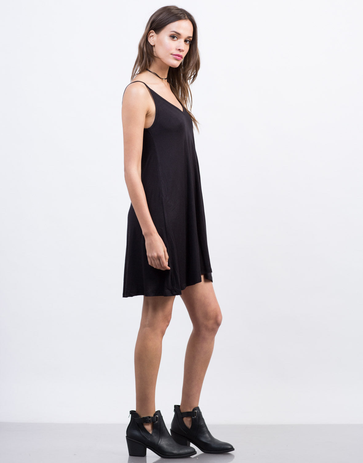 Side View of Little Tank Dress
