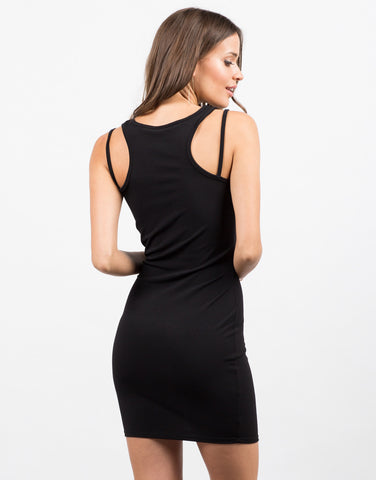 Back View of Little Black Bodycon Dress