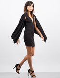 Side View of Little Black Cape Dress