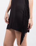 Detail of Little Black Fringe Dress