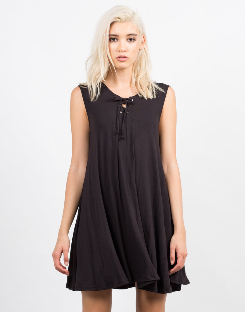 Little Black Tied Up Dress - 2020AVE