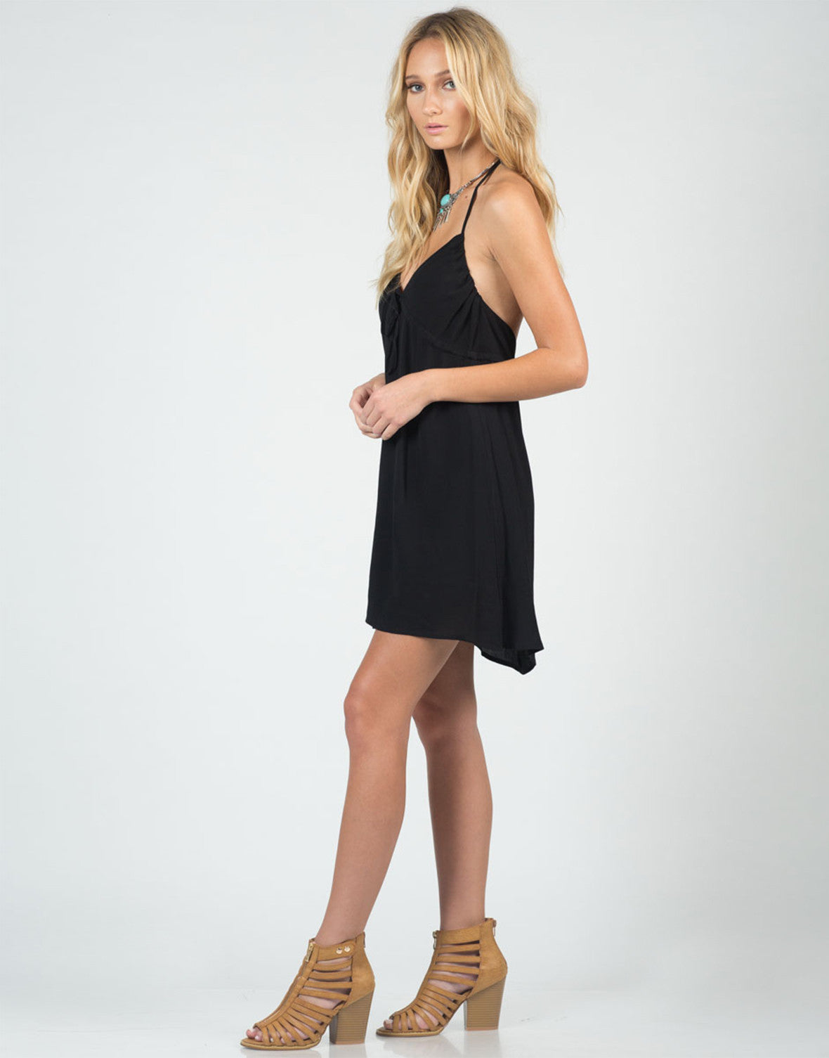 Side View of Little Halter Dress
