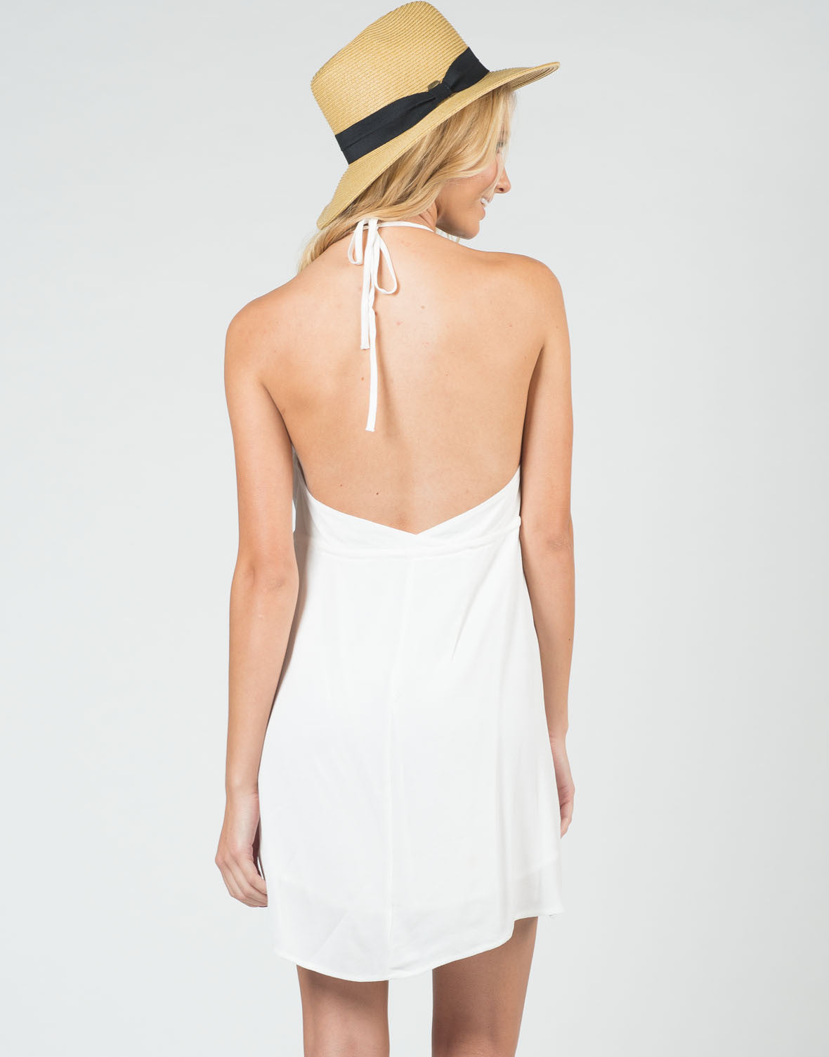 Back View of Little Halter Dress