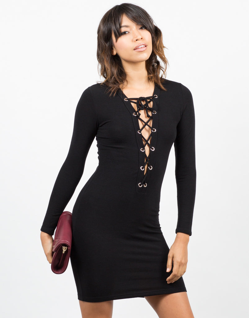 Little Laced Up Dress - 2020AVE