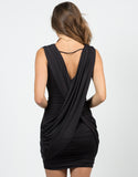 Back View of Little Scrunched Black Dress