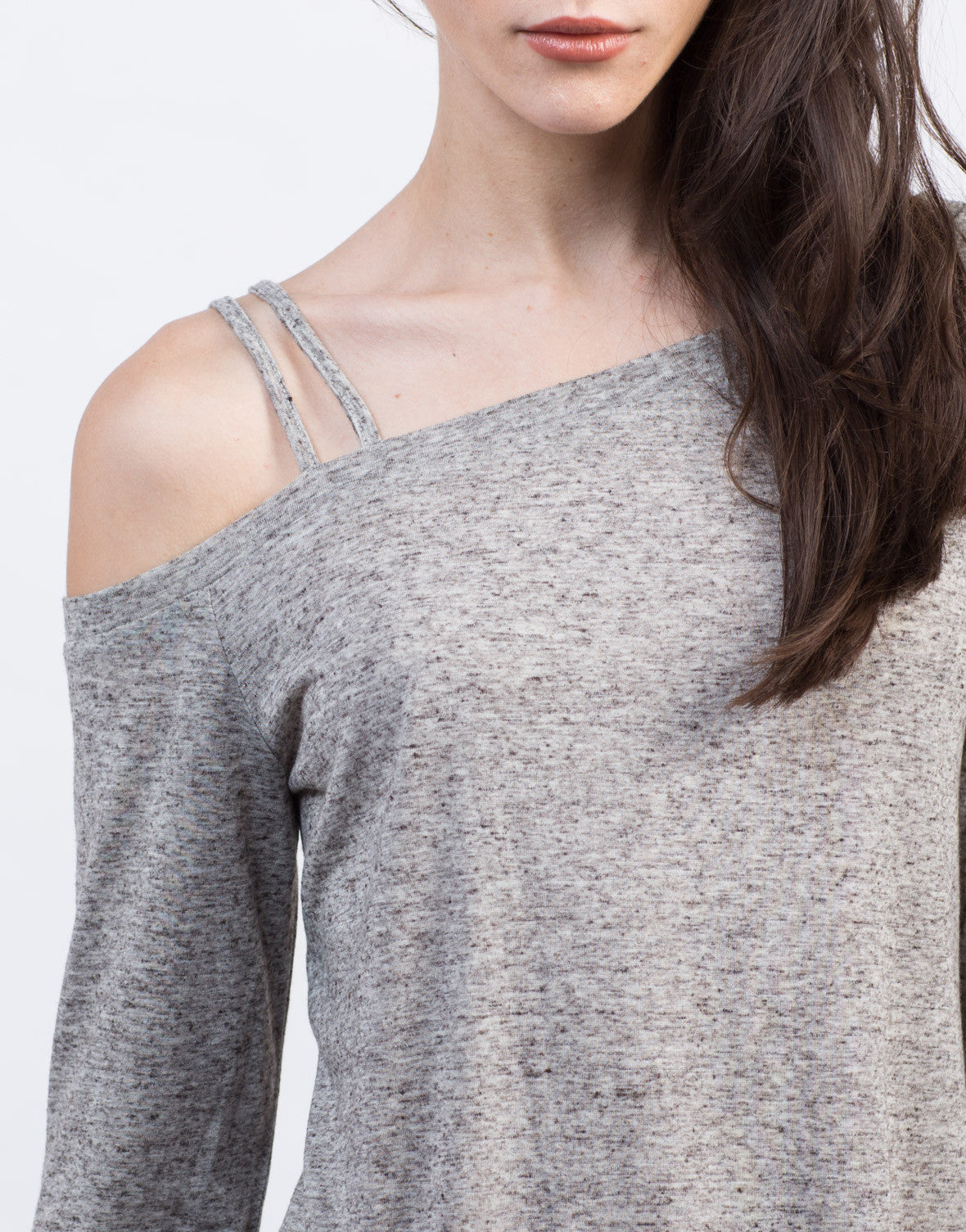 Detail of Long Sleeve Shoulder Strapped Top