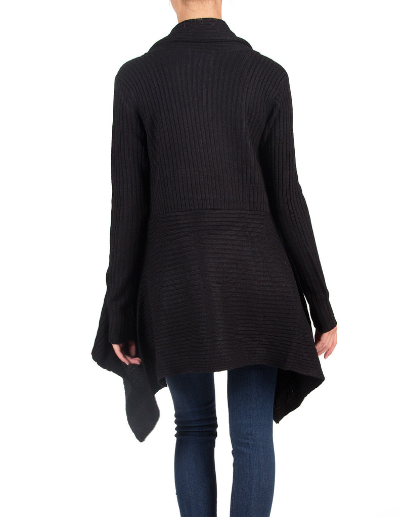 Long Cozy Knitted Cardigan - Black - Large - 2020AVE