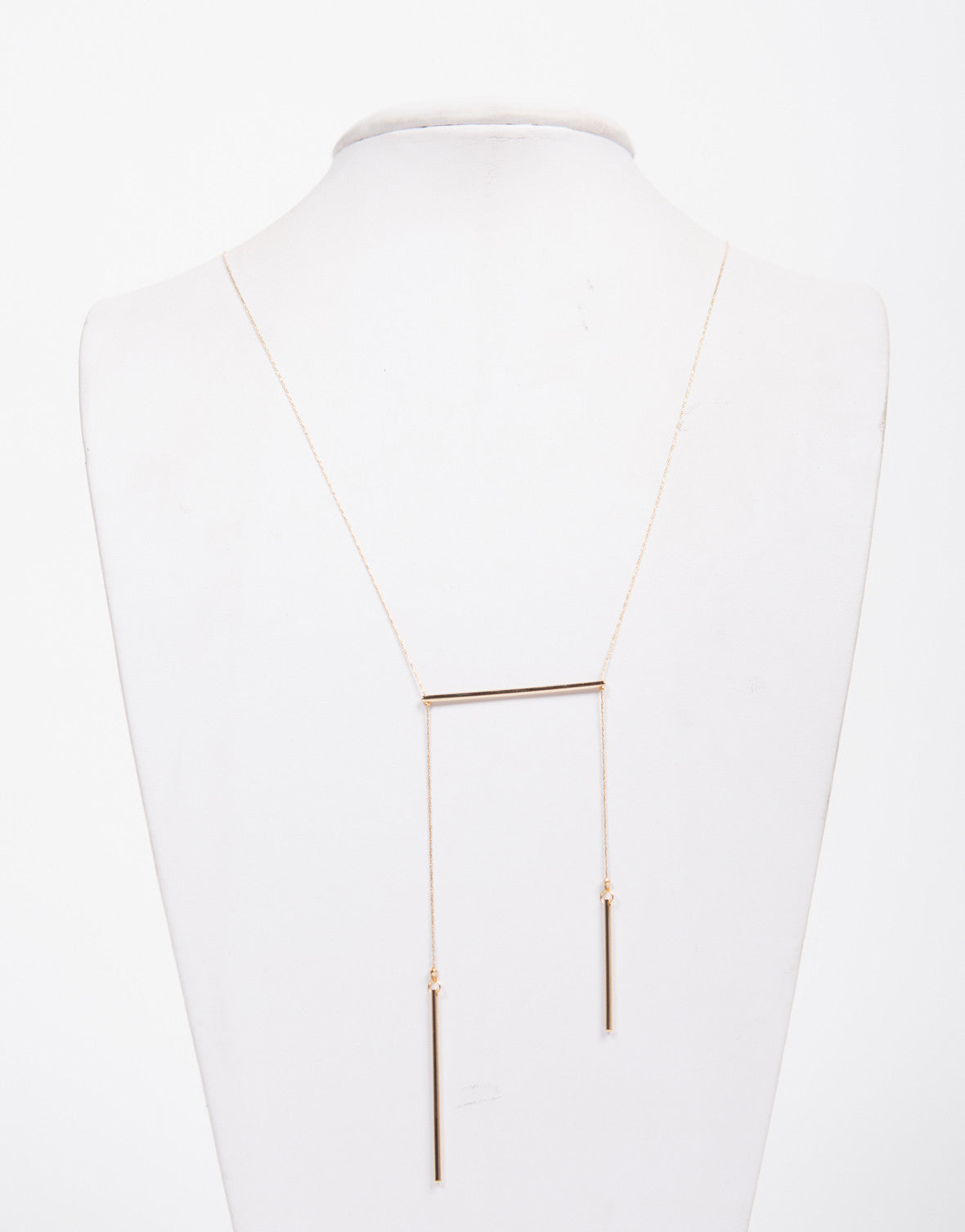 Long Dainty Bar Drop Necklace