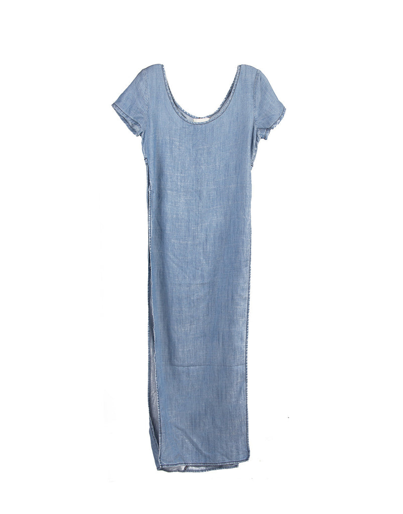 Long Denim Slit Dress - Medium - 2020AVE