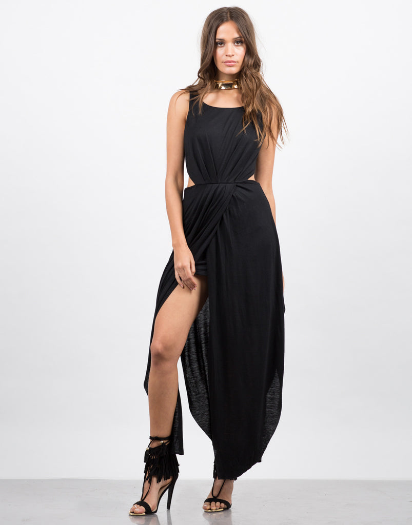 Long Drapey Cut Out Dress - 2020AVE