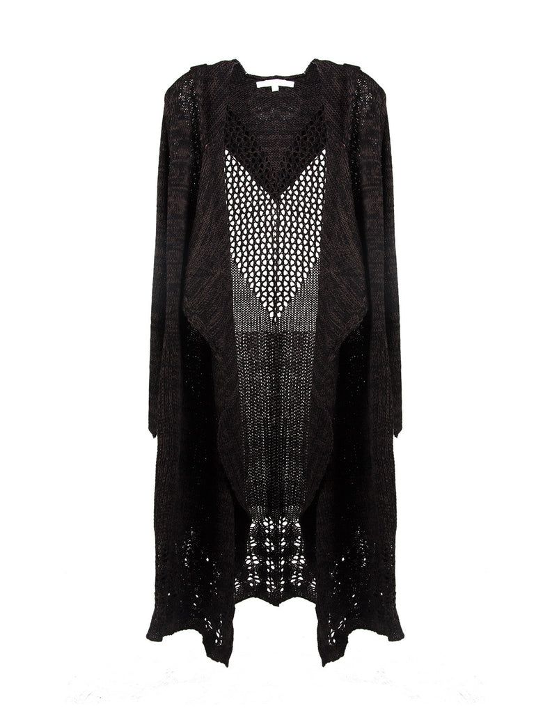 Long Holey Open Knit Cardigan - Large - 2020AVE