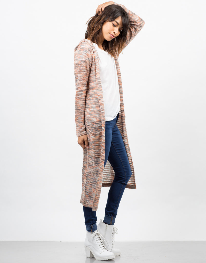 Longline Hooded Cardigan - 2020AVE
