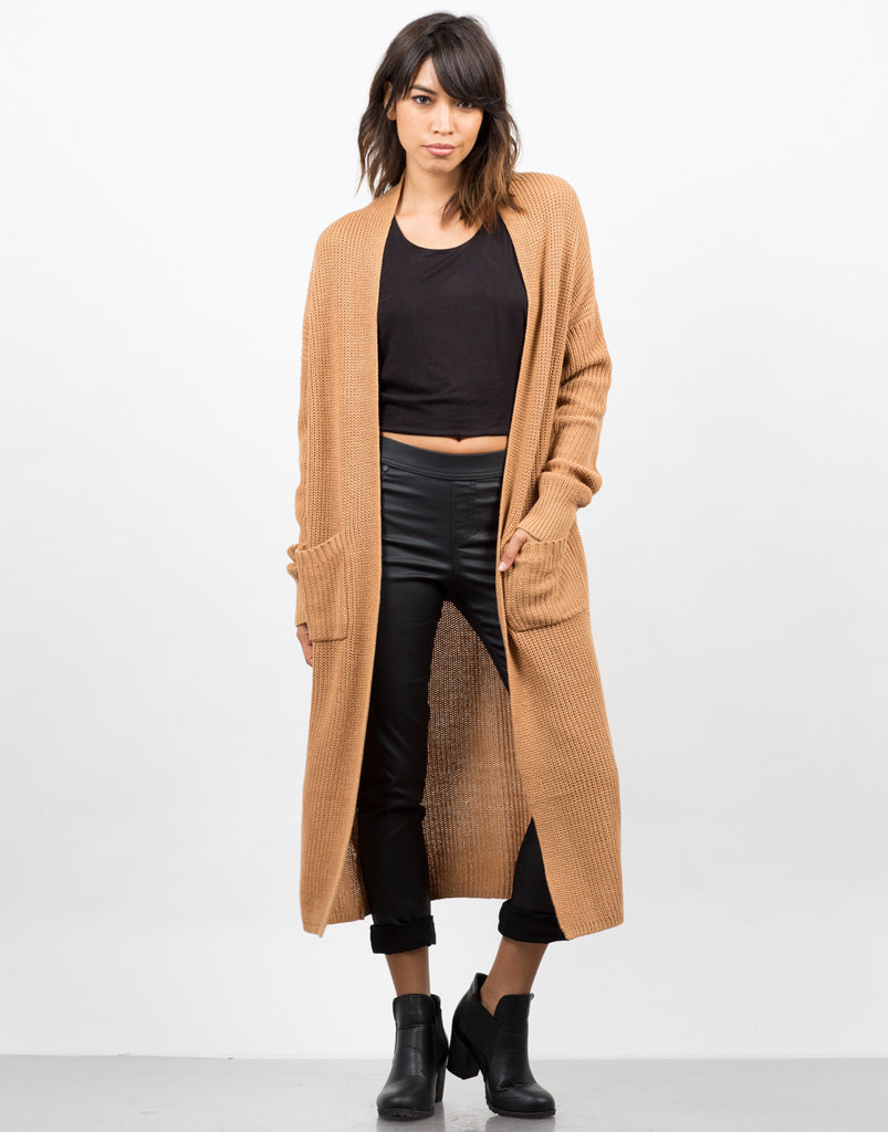 Longline Knit Cardigan - 2020AVE