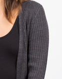 Detail of Long Ribbed Cardigan