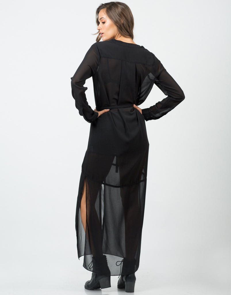 Long Sheer Chiffon Dress - 2020AVE