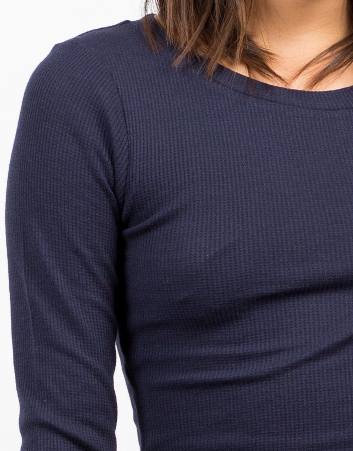 Detail of Long Sleeve Cropped Thermal